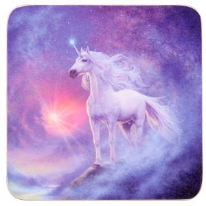 Hippy Coasters~Mystical Unicorn Celestial Prince Coasters~Fair Trade by Folio Gothic Hippy~KP12